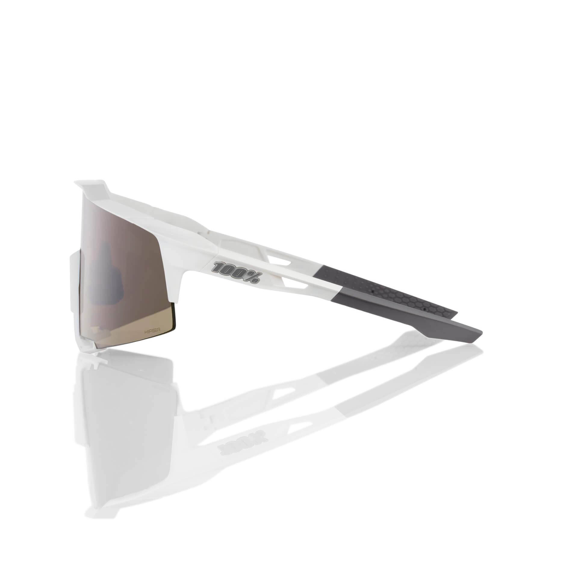 SPEEDCEAFT – Matte White – HiPER Silver Mirror Lens
