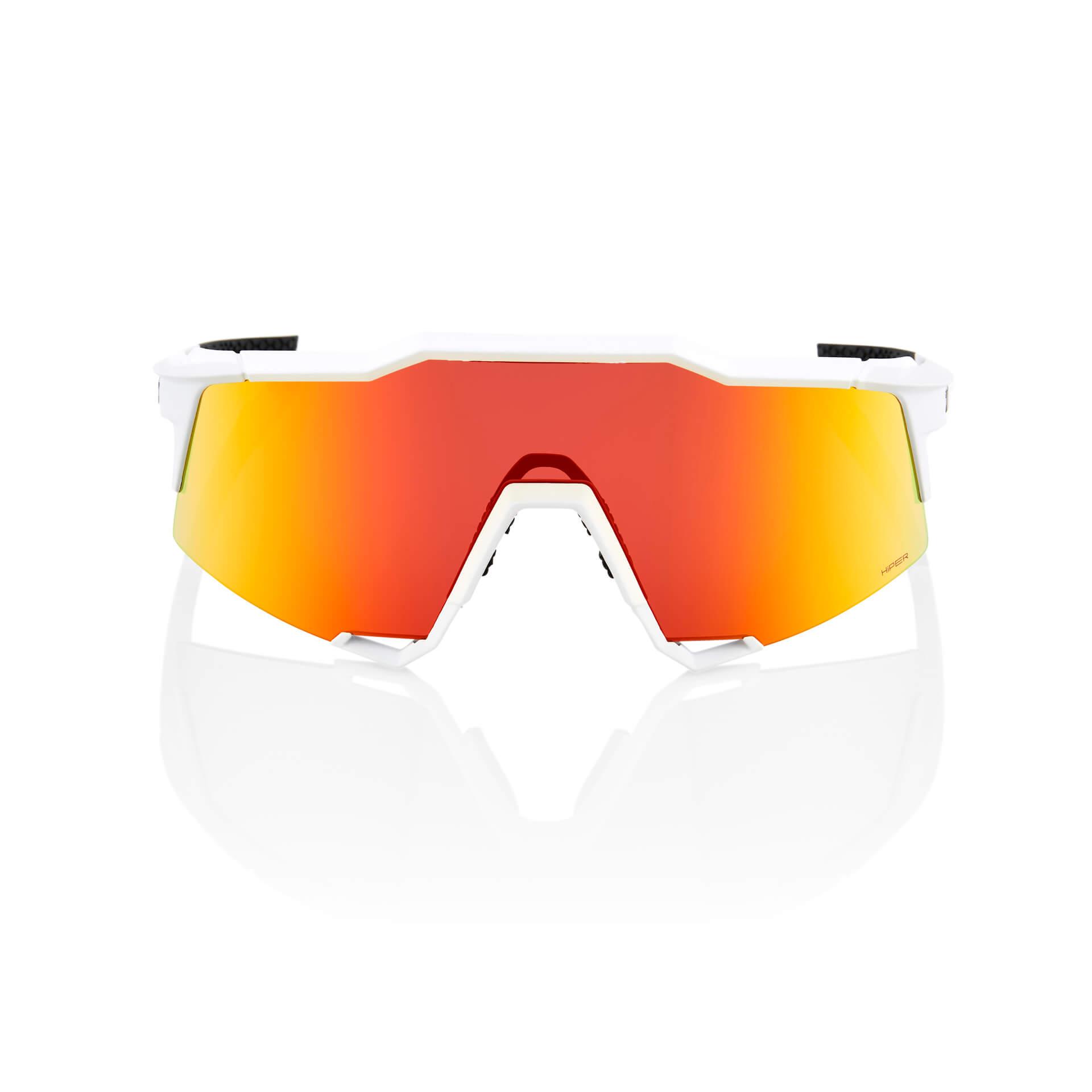 SPEEDCRAFT – Off White – HiPER Red Multilayer Mirror Lens