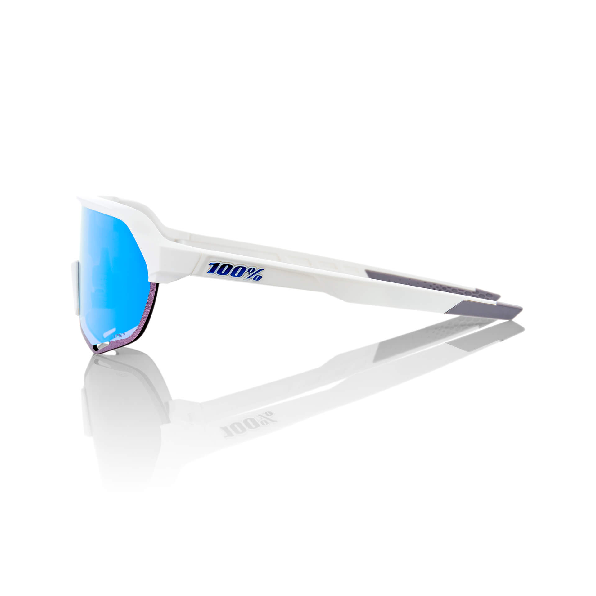 S2 – Matte White – HiPER Blue Multilayer Mirror Lens