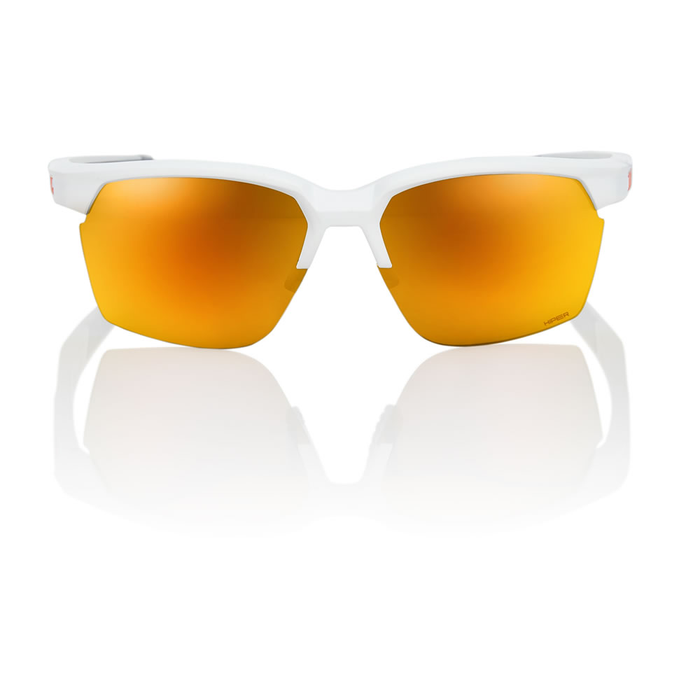 SPORTCOUPE – Soft Tact White – HiPER Red Multilayer Mirror Lens