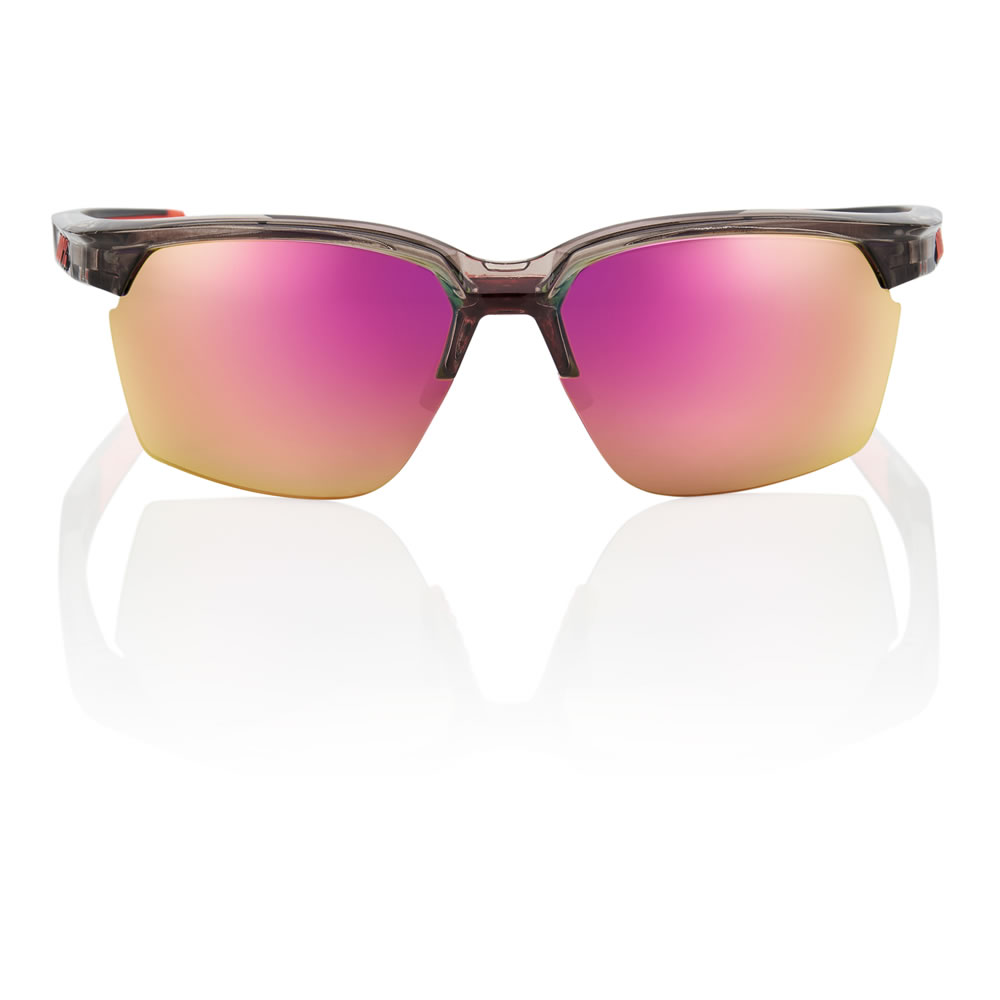 SPORTCOUPE – Shiny Transluscent Crystal Smoke – Purple Multilayer Mirror Lens
