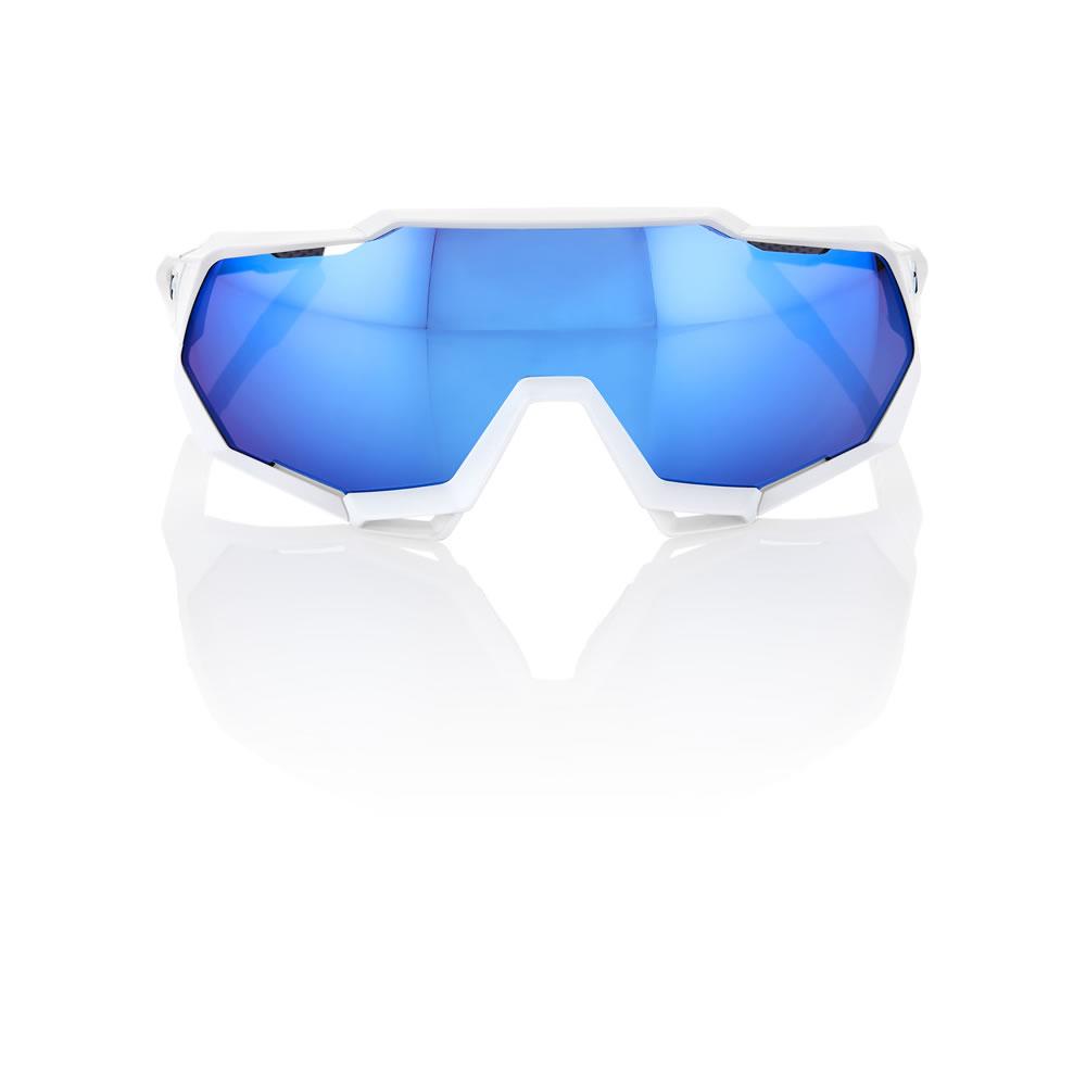SPEEDTRAP – Matte White – HiPER Iceberg Blue Mirror Lens