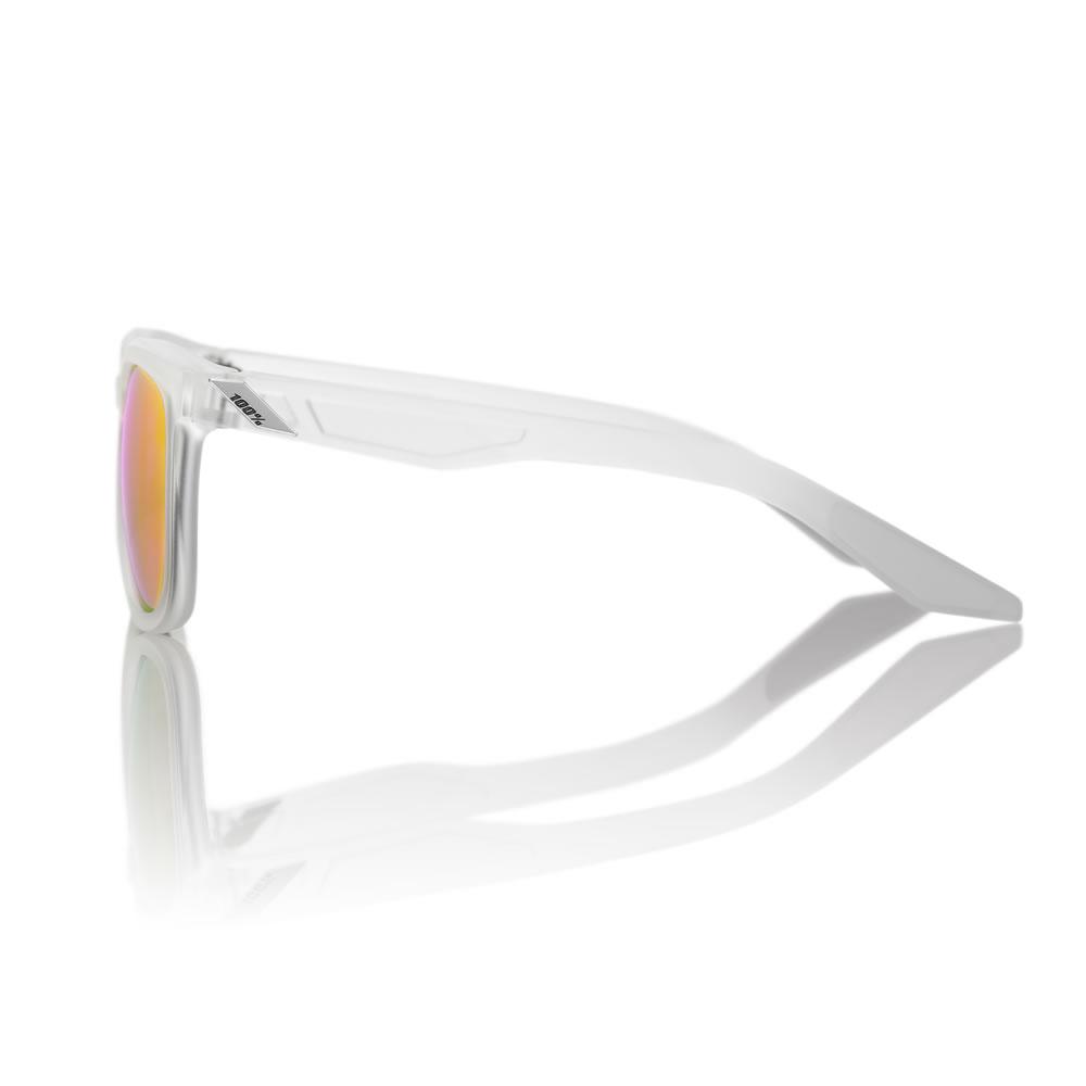 HUDSON – Matte Transluscent Crystal Clear – Purple Multilayer Mirror Lens