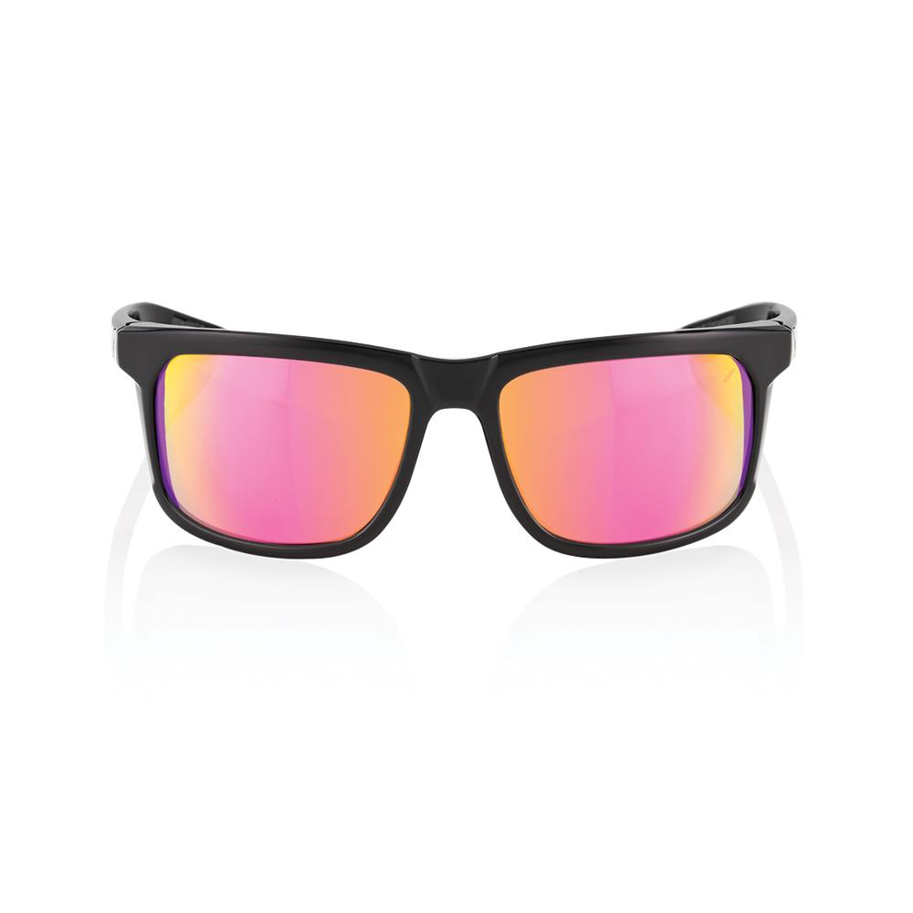 HAKAN – Polished Black – Purple Multilayer Mirror Lens
