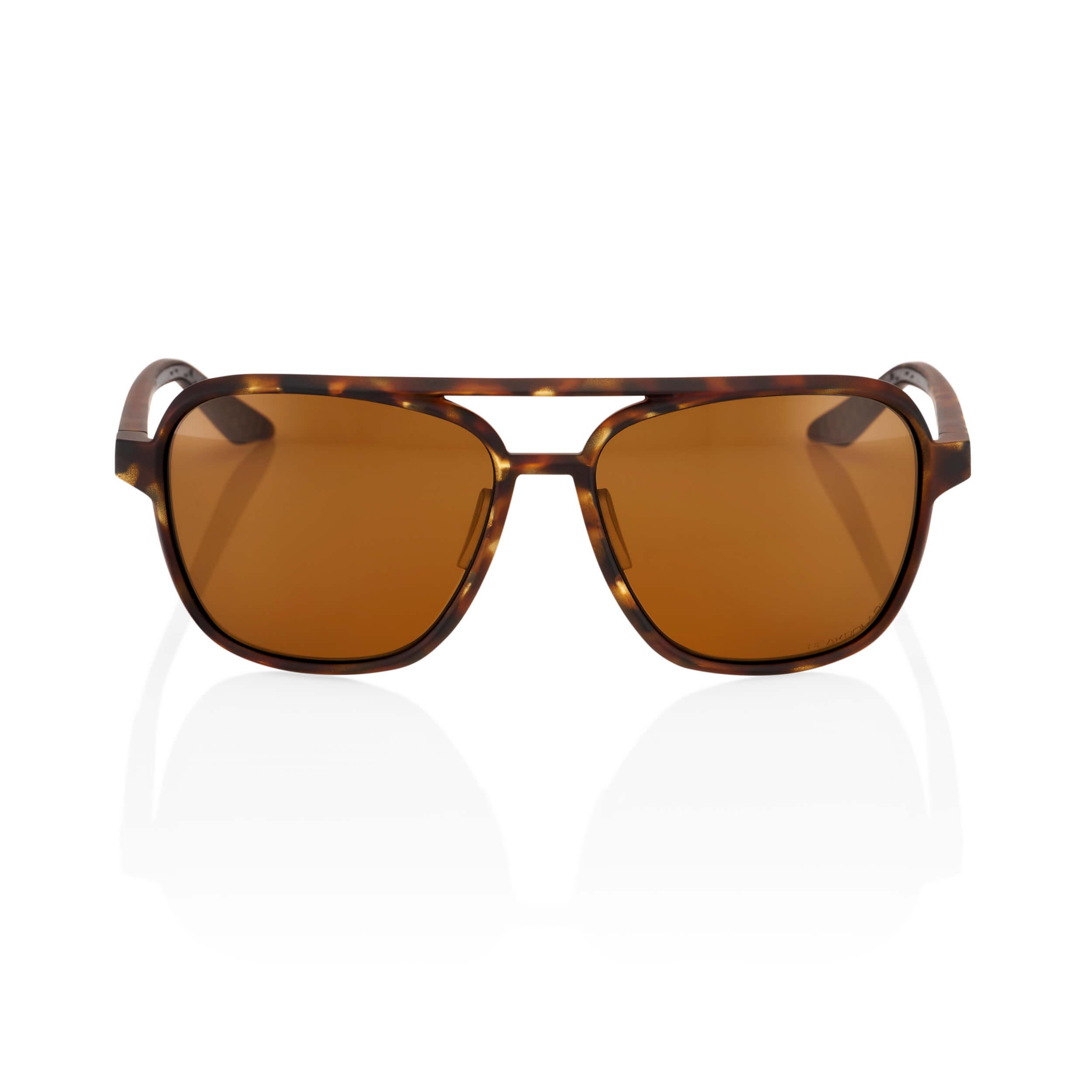 KASIA Aviator Round – Soft Tact Havana – Bronze PEAKPOLAR Lens