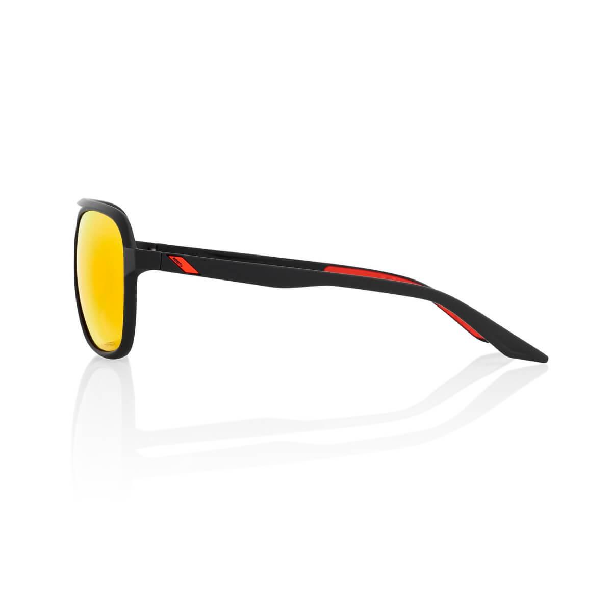 KASIA Aviator Round – Soft Tact Black – HiPER Red Multilayer Mirror Len-