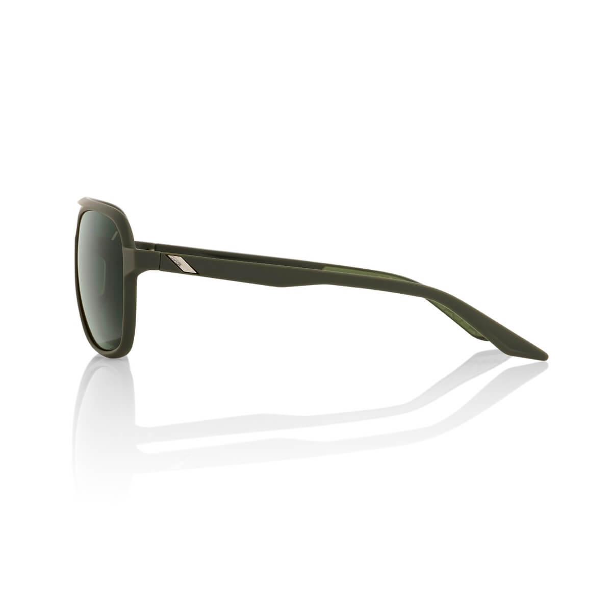 KASIA Aviator Round – Soft Tact Army Green – Grey Green Lens