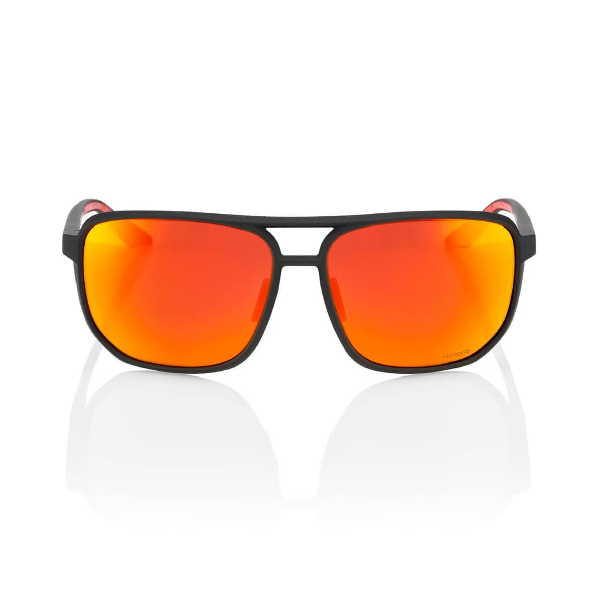 KONNOR Aviator Square – Soft Tact Black – HiPER Red Multilayer Mirror Lens